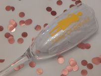 Personalised Wedding Champagne Glass Lady & Role